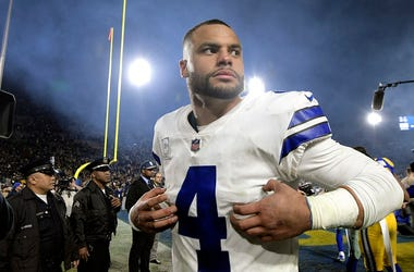 Dallas Cowboys quarterback Dak Prescott (4) walks off the field after a 30-22 loss against the Los Angeles Rams in the NFL Divisional Round at the Los Angeles Memorial Coliseum on Saturday, Jan. 12, 2019. (Photo by Max Faulkner/Fort Worth Star-Telegram/TN