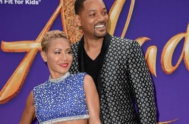 "Jada Pinkett Smith and Will Smith attend the premiere of Disney's ""Aladdin"" at El Capitan Theatre on May 21, 2019 in Los Angeles, California."