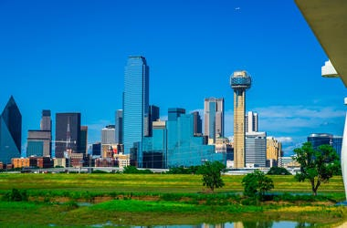 Green summer view Dallas Texas 2019 skyline cityscape of the best skyline in America