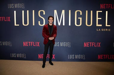 Diego Boneta poses during the Netflix Luis Miguel Premiere Red Carpet at Cinemex Antara on April 17, 2018 in Mexico City, Mexico.