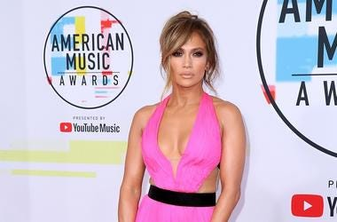 Jennifer Lopez at the 2018 American Music Awards at the Microsoft Theatre on October 9, 2018 in Los Angeles, California.