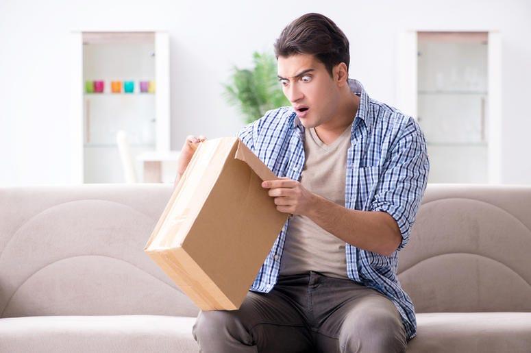 The man receiving empty parcel with stolen goods
