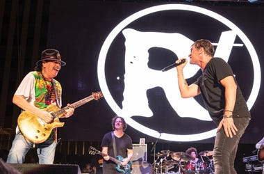 Carlos Santana & Rob Thomas at Bite of Las Vegas; Sept. 14, 2019