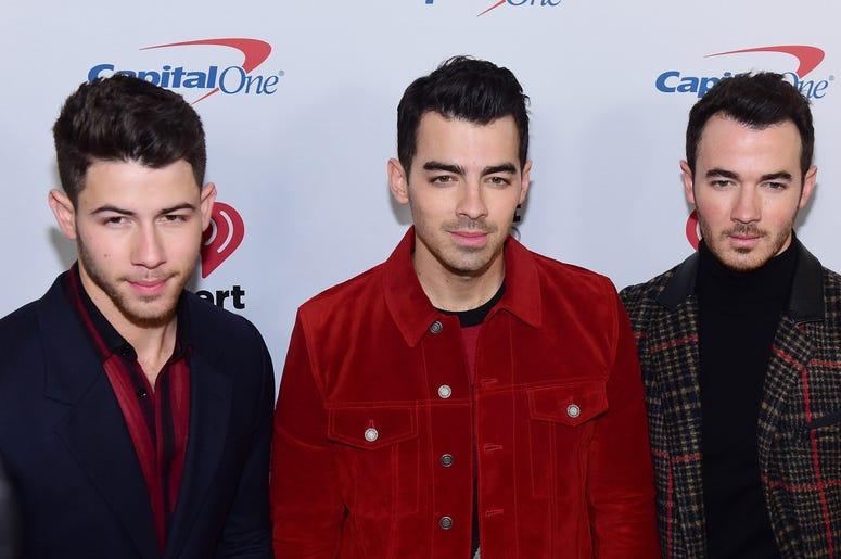 The Jonas Brothers - Nick Jonas, Joe Jonas and Kevin Jonas arrive at iHeartRadio's Z100 Jingle Ball 2019 Presented By Capital One on December 13, 2019 in New York City, NY. (Photo by Jeremy Smith/imageSPACE/Sipa USA)
