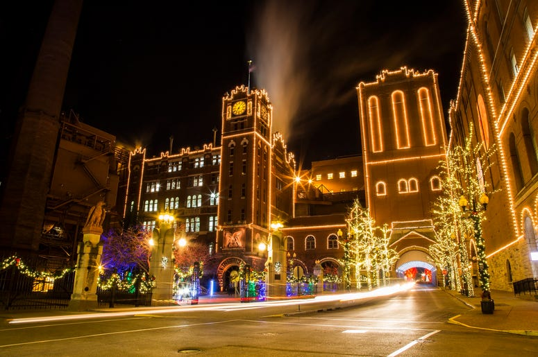 Anheuser-Busch Brewery Lights in St. Louis.