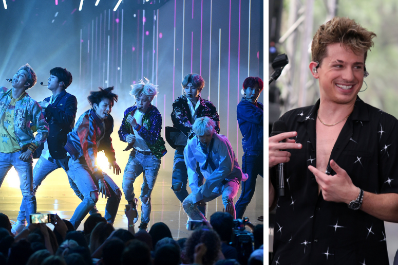 BTS and Charlie Puth