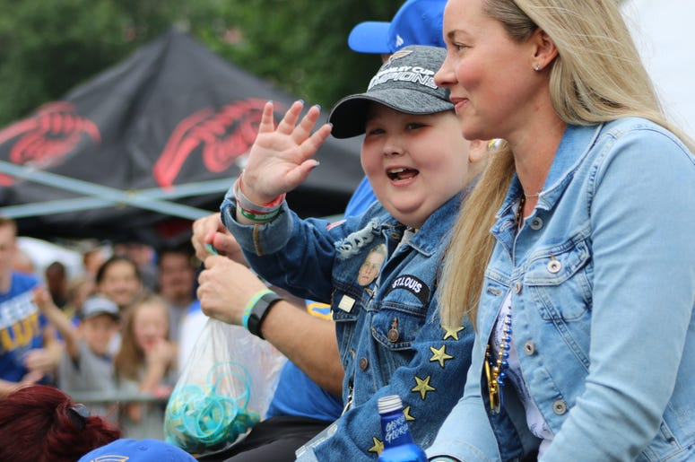 Laila Anderson in Blues Championship Parade and Rally June 15, 2019 in Downtown St. Louis