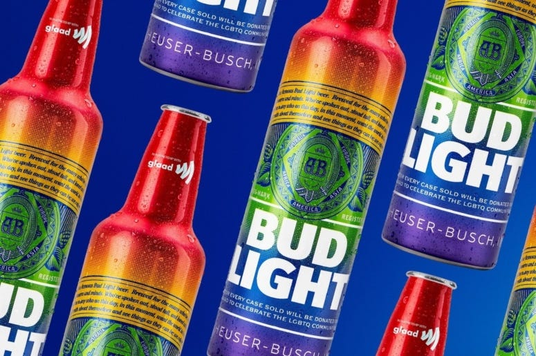 bud light rainbow bottles