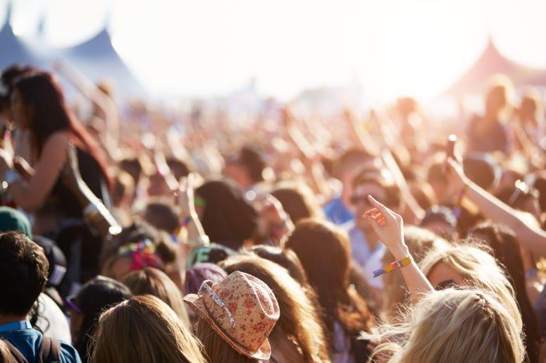 hands up at concert
