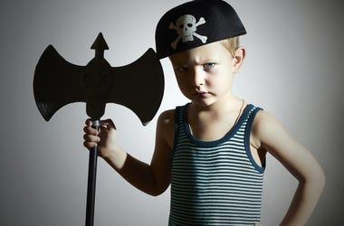 Unhappy Kid at Halloween