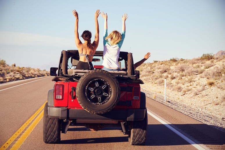 Friends in Jeep
