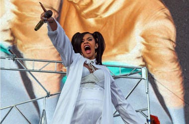 Cardi B performs at the Coachella Valley Music and Arts Festival at Empire Polo Club.