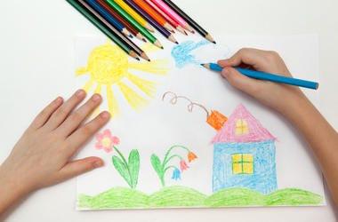 children's art drawing