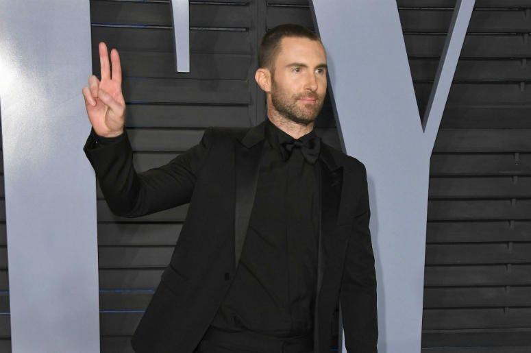 Adam Levine. 2018 Vanity Fair Oscar Party