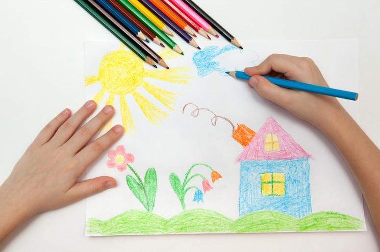 children's art drawing