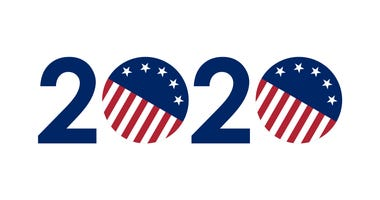 2020 numbers in United States flag colors