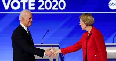 Biden and Warren