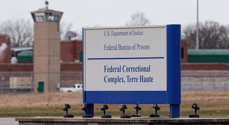Justice Department moving ahead with execution plan next week