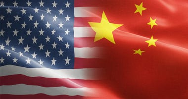 US / China flags