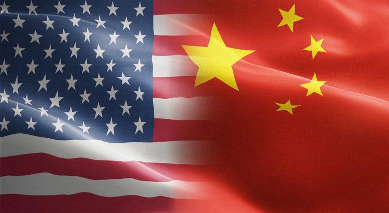 US / China flags