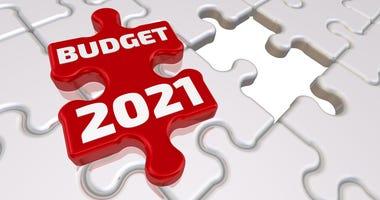 Budget 2021 as a puzzle piece illustration