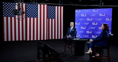 Biden and Harris hold first joint campaign event