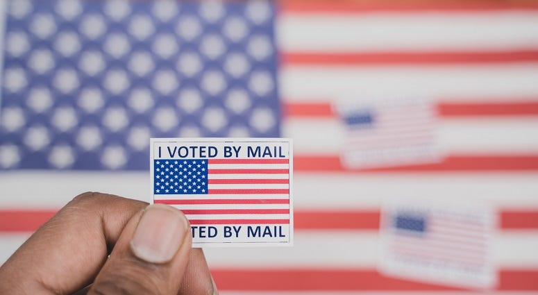 Kansas election officials report mail-in results from primary
