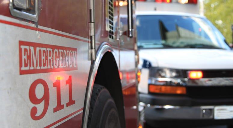 ambulance and fire engine