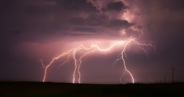Storms roll across north-central to south-eastern Kansas