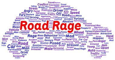 words forming shape of car / road rage