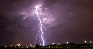 Thunderstorms across Kansas Friday into Saturday