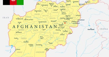 Afghanistan map political - capital, cities, rivers and lakes