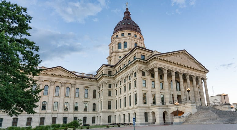Exterior of the Kansas State Capital Building in Topeka, Kansas
