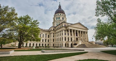 The Kansas state capitol building