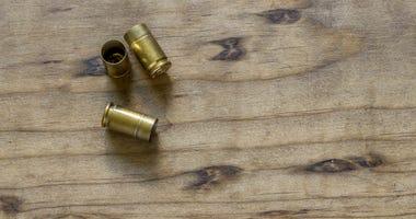 Empty handgun shell casings