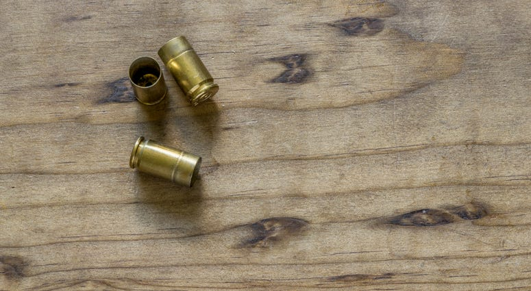 Empty handgun shell casings
