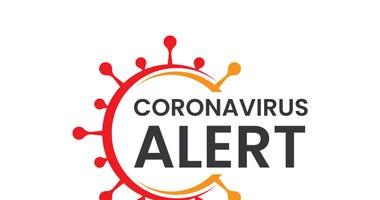 Corona virus alert sign symbol