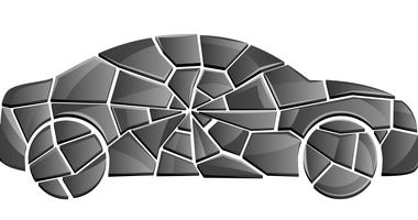 car crash illustration