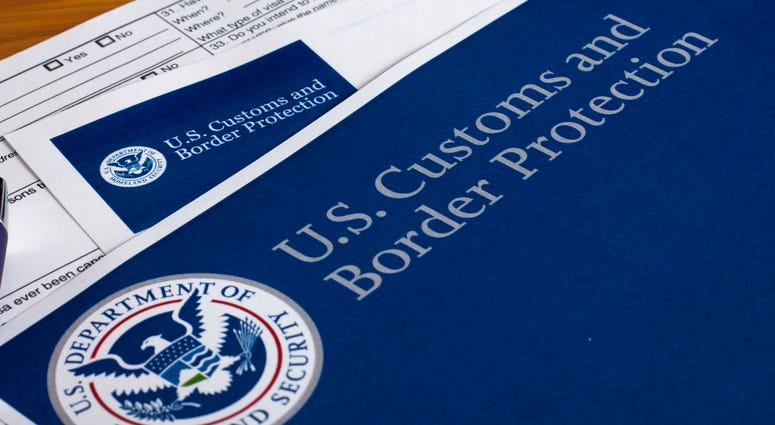 US Customs and Border Protection form