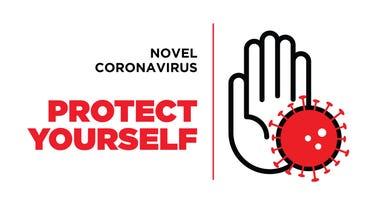 Wuhan coronavirus outbreak illustration