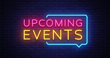 Upcoming Events neon sign