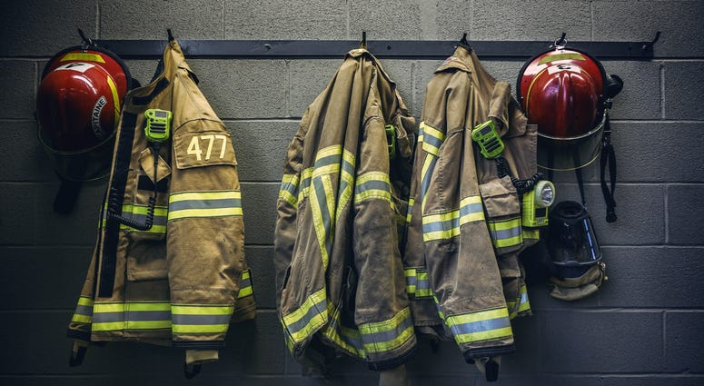 firefighter protection clothes and respiratory mask