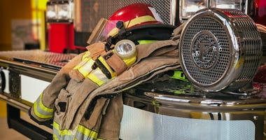 firefighter gear in the fire station