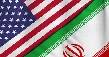 Flags of the United States of America and the Islamic Republic of Iran
