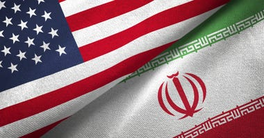 United States and Iranian flags