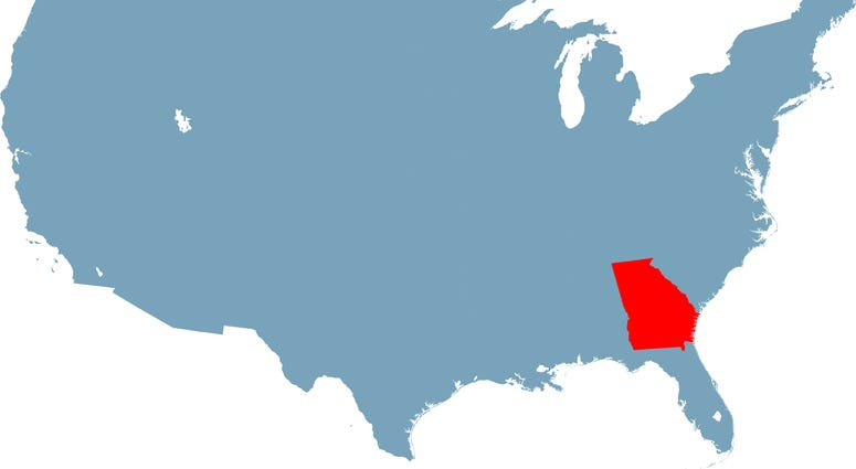 U.S map with Georgia highlighted