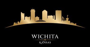 Wichita Kansas city skyline silhouette