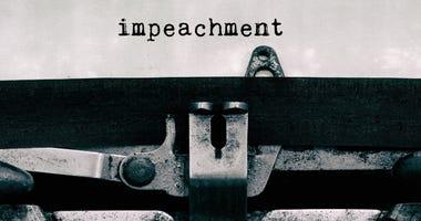Impeachment typed on vintage typewriter