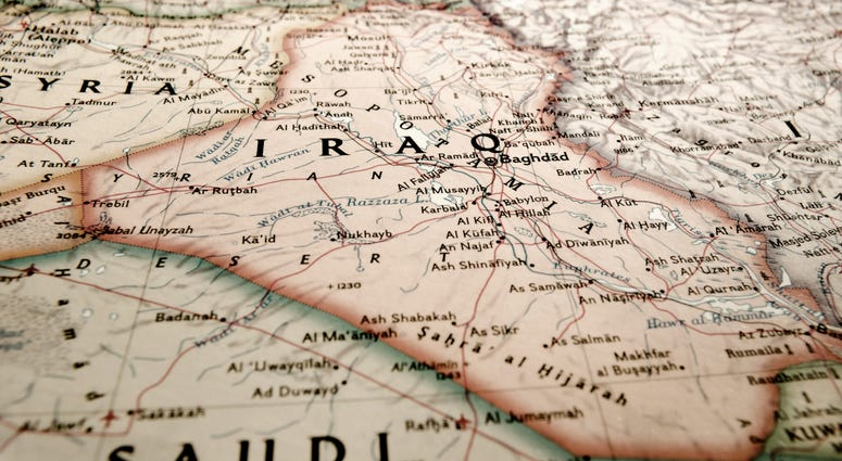 Map of Iraq and its surroundings