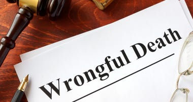 Document with title Wrongful Death on a wooden surface